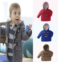 Hot selling 2014 new children outerwear,autumn&Winter boy coat ,hooded outwear with horn, Wu children clothing, free shipping