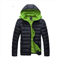 L0716, free drop shipping winter men casual detachable cap thick warm coat, wholesale men cotton padded jacket