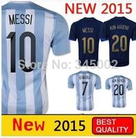 New 14/15 Argentina away MESSI TEVEZ Jersey set,2015 Soccer Uniforms Cheap Football Kit free shipping