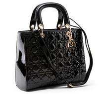 NEW 2014 Women's Leather Handbags Messenger Shoulder Ladies Vintage Clutch Fashion Black White Bags Shopping High-capacity