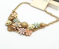 COL140 2014 New Elegant Flowers shorts Choker Statement Necklaces Collier Colares women