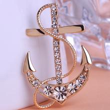 Illuminati Weddings Brooches Gold Anchor Broches Hijab Pins Pin up Broach Perfumes For Personality Women Colares Bijuterias Vaz