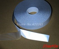 5m*25mm Safety Warning No Elastic Reflective Fabric Material Tape Iron On RT086