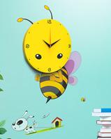 Cute 3D Cartoon Wall Sticker DIY Wall Clock Children Room Decoration 4 Patterns Good Gift for Kids 20
