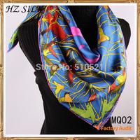 2014 winter blue bird pure silk muslim hijab scarves banada acessories new women apparel & accessories free shipping