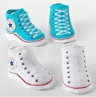 2014 fashion Newborn baby socks, baby fake shoes sock baby girl boy crib shoes