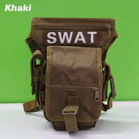 High Quality Useful SWAT Drop Leg Utility Waist Pouch Carrier Bag for outdoor sports riding leisure, free shipping