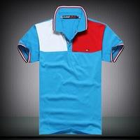 New 2014 detonation model of short sleeve POLO shirt menswear fawn embroidery short-sleeved shirts,free shiping