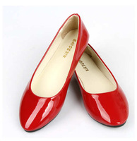 2014 New designs women pointed toe flats shoes casual leather Single shoes for women casual shoes free shipping