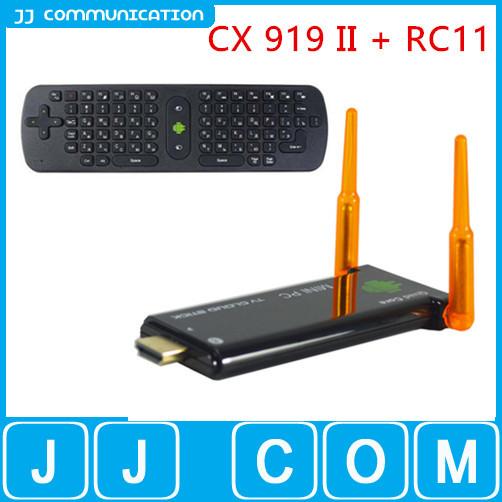RC11+J22 CX-919 ii Android TV Stick Quad Core RK3188 Mini PC 2/8GB Built-in Bluetooth Google Smart TV Box Stick Dongle CX 919 II(China (Mainland))