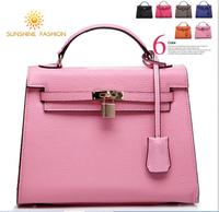 New 2014 Kell Vintage bag Women Leather Handbags designers brand women's Tote Shoulder Bag genuine leather women messenger bags