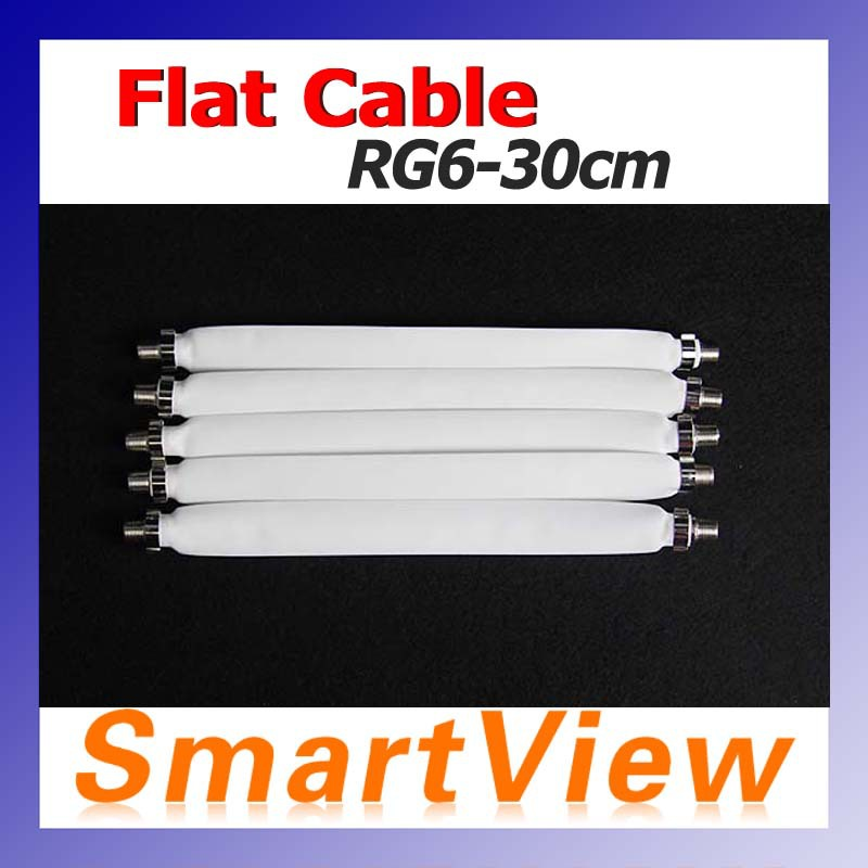 1pc Flat Coaxial Cable RG6 RG-6 DOOR RV WINDOW Length 30cm free Shipping post(China (Mainland))