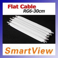 10pcs Flat Coaxial Cable RG6 RG-6 DOOR RV WINDOW Length 30cm free Shipping post