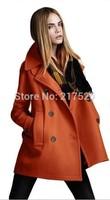 outerwear coats Woolen outerwear overcoat female 2015 spring women's winter long slim cotton lapel overcoat thick warm coats
