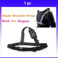Shoulder Strap Single Shoulder Strap for Go Pro Mount Chest Harness Belt Adapter For Gopro Hero 3 3+ Camera Accessories Black
