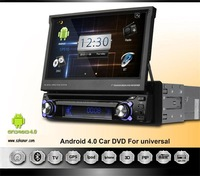 1 din Android 4.0 car dvd Player with GPS Car Radio 7 inch WIFI 3G 3D UI PIP SWC BT IPOD TV USB/SD