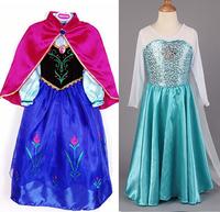 1pcs retail, baby girls costume custom size for kids princess dress sequined cartoon costume girls dresses 6 design can choose.