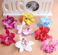 Artificial phalaenopsis flannelet silk orchid heads floral flower head diy hair accessory wrist corsage decoration