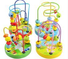 nuevo 1 piezas de madera juguetes educativos juguetes de cuentas mini juego perlas alrededor de perlas alrededor de la primera infancia juguetes educativos(China (Mainland))
