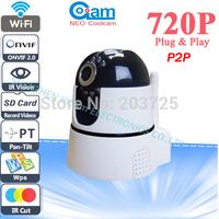 Neo coolcam TF/Micro SD Card Slot IP Camera Wireless P2P Plug and Play IR Cut Night Vision Pan/Tilt Two Way Audio Wifi