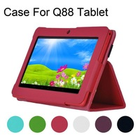 """Hot Selling 7 inch Folio PU Leather Case Cover Stand For 7"""" Q88 Google Android Tablet PC MID YCA0061-52"""