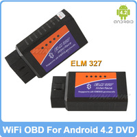 Wireless ELM327 Bluetooth OBD2/OBD ll On-Board Diagnostic System For Android 4.1/4.2 Car DVD Code Readers Scan Tools