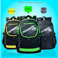2014 wholsale orthopedic children school bag kids shoulder backpack with hard bag for boys class/grade 1-3