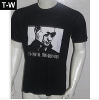 TUSDMS002  2014men's fashional ,putin picture  causal Male  tshirts,Skull ,black and white colour ,size M to XXXL  free shipping