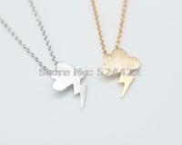 Min 1pc fantasy Lightning cloud necklace Grumpy little cloud lightning brass necklace XL098