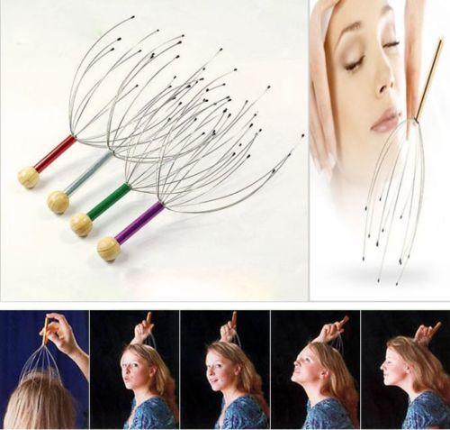 New Head Neck Scalp Massager Massage Tool Stress Relax Hair care health monitors body massager(China (Mainland))