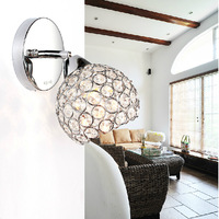40W wall lamp Modern Crystal Wall Sconce lights home indoor lighting stainless steel E14 Bulbs AC220V lamps for home modern
