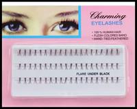Individual Eyelash Extension Human Hair cilios posticos Soft False Eyelashes Eye Lashes Party Makeup Tool