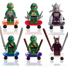 Decool TMNT Turtles Ninjao 6pcs/lot 0051-0056 Plastic Minifigures For Child Education Building Block Toy Compatible With Lego(China (Mainland))