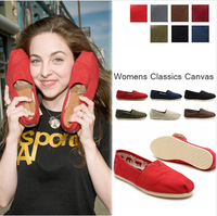 Free Shipping 2014 Classic Canvas Shoes women and men flat shoes Fashion Lazy Shoes Solid Color Leisure Casual Shoes EU 35-45