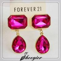 New Luxury Gold Earrings 3 Colors Rhinestone Dangle earrings 2014 Fashion Girls Crystal Earrings