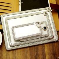 Luxury Clear Rhinestone Diamond Bling Case Cover For iPad 5 iPad 2 3 4 iPad Air iPad Mini Crystal Case 1 pcs free shipping.