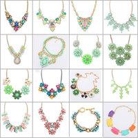 2014 new jewelry fashion Ethnic shourouk gold Clavicle  chain bib statement Collar Choker necklace jc Necklaces & Pendants