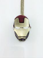 10pcs/lot wholesale fashion vintage charm movie jewelry Iron man pendant Pocket watch necklace High quality hot