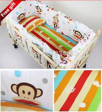 J.G! 5 pcs Baby Crib Bumper Kids baby crib bedding set baby bedding baby crib sheets100% cotton boy bedding bumpers cot bumper(China (Mainland))