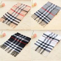Cashmere brand pashmina plaid wool silk xale cotton tartan shawl infinity men fashion scarf cape echarpes for women