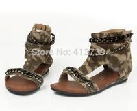 2014 In the summer The new La la tiger sandals Girls' Set auger  portable wear-resisting cuhk Children's shoes
