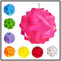 Novelty IP Puzzle Lamp - Modern Pendant Jigsaw Lights Lamp Shade Kit Large Size (Assorted colors)