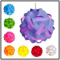 Novelty IP Puzzle Lamp - Modern Pendant Jigsaw Lights Lamp Shade 30pcs Kit Medium Size (Assorted colors)