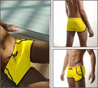 Men's Swimming Underwear Front Tie with Pocket Super Sexy Swim Trunks Shorts Slim Wear