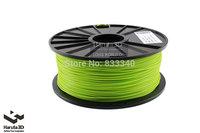 Luminous Green 3d printer filament PLA ABS 1.75mm 3mm 1kg/spool Plastic Pure Material for MakerBot/RepRap/UP/Mendel