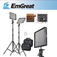 2* Aputure Amaran AL-528S LED Camera Video Bi-color Light kit+2M (6.5ft) Light Stand + Led Video Light For DSLR DV P0013112