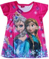 2014 new   309 hot pink Design Summer The Latest Baby Clothing Set Short Tshirt + Pants Shorts 2pcs Suit  2PCS girl suit