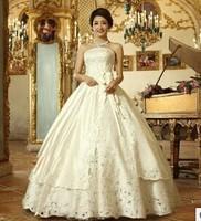 High-grade hot hole 2014 latest wedding dresses the bride bitter fleabane bitter fleabane skirt set auger wedding dress
