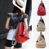 Girls Vintage Canvas Backpack Back Pack Rucksack Womens School Shoulder Bag Shopper Hiking Bookbag Free Drop Shipping Wholesale