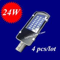 4pcs/lot  LED Street Lights 24W outdoor IP65 2 years warranty  High power LED Street Light 24W road lamps